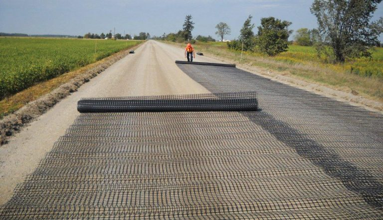 Geosynthetics for road construction