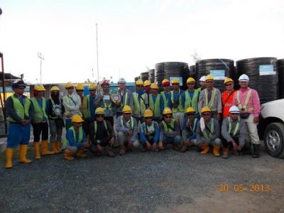 Independent Deepwater Petroleum Terminal Pengerang workers group photo