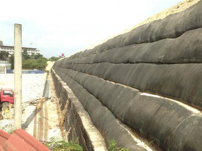Geotextile Reinforced Wall Installation for Pekan Penanga, Bandar Sunway